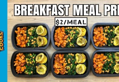 How to Meal Prep – Ep. 73 – BREAKFAST MEAL PREP (6 Meals/$2 Each)